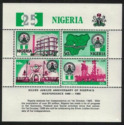Nigeria Oil Refinery Rolling Mill 25th Anniversary of Independence MS SG#MS499