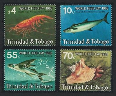 Trinidad and Tobago Fish Mackerel Shrimp Conch World Food Day 4v SG#632-635