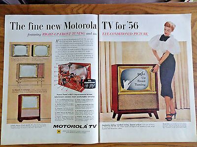 1956 Motorola TV Television Ad   Shows 5 Models for '56 Eye-Conditioned Picture