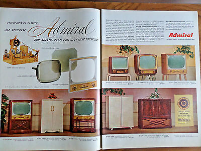 1954 Admiral TV Television for 1954  Shows 8 Models