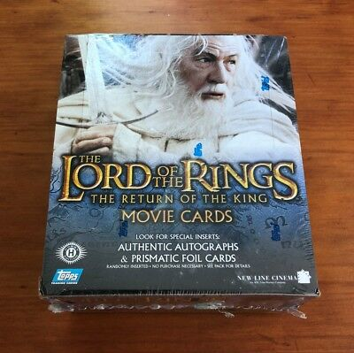 2003 Topps Lord of the Rings The Return of the King - Sealed Box of 36 Packs