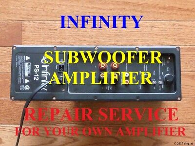 Infinity PS10 PS12 PS210 PS410 Subwoofer Amplifier REPAIR SERVICE