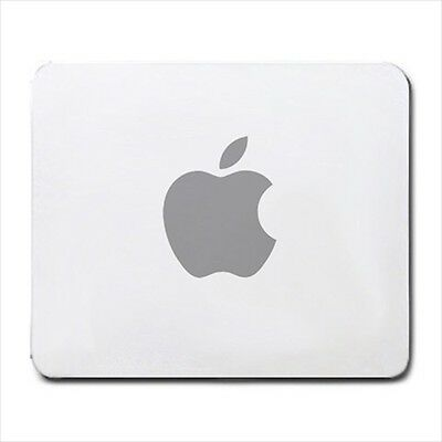 Apple Mousepad Gray Logo Mac Machintosh Mouse Pad Mat