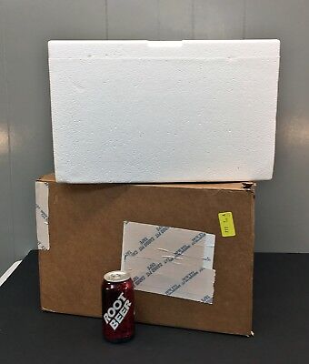 Styrofoam Cooler/Container & Shipping Box 12x13.5x7-inside Insulated Mailer