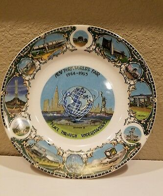 "Vintage 1964-1965 New York World's Fair 8.5"" Plate"
