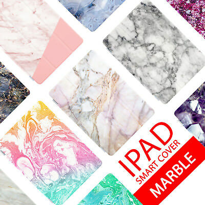 Smart Case Cover For Ipad 2 3 4 5 6 Air Mini Pro 9.7 10.5 12.9 Marble