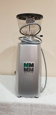 Mazzer Luigi Mini Slr Timer Commercial Coffee Grinder Silver-0815040