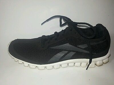 0b206ed7ad86 REEBOK 023501 711 Smooth Flex Black Running Shoes sz 8 EU 38.5 Womens  Sneakers