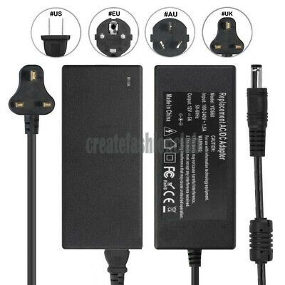 Netbook AC Power Supply Adapter DC 12 Volt 5 Amp (12V 5A) LCD Monitor Laptop