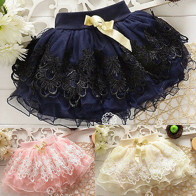 2018 Toddler Baby Girls Summer Lace Floral Skirt Kid Tutu Dress Short Mini Skirt