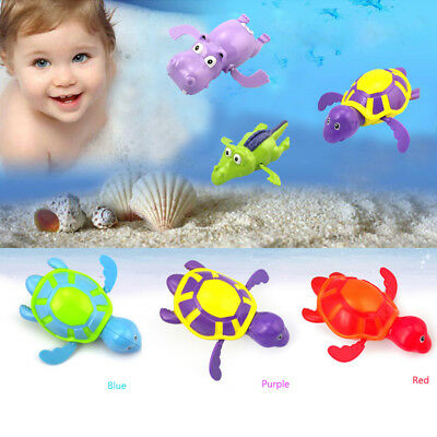 UK New Wind up Swimming Turtle Pool Animals Toys For Baby Kid Bathing Toys BB