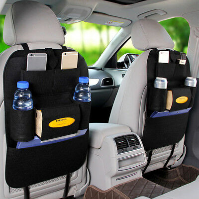 Black Auto Car Seat Back Multi-Pocket Hanging Bag Storage Organizer Phone Holder