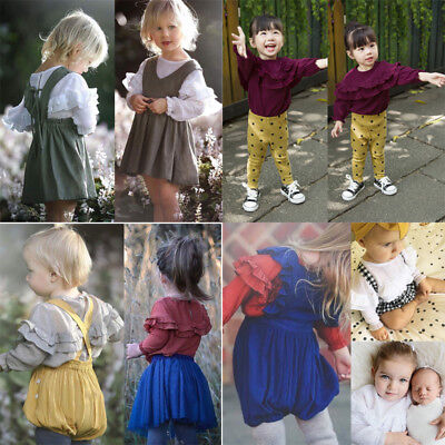 Fashion Toddler Newborn Baby Girls Long Sleeve T-shirt Blouse Clothes Shirt Tops