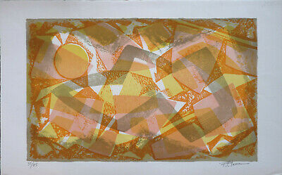 Pierre Clamagirand CLAMA (1934-2015) Lithographie Abstract / Abstrait / Abstrakt