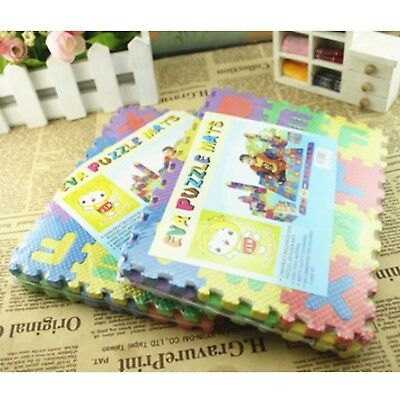 WH 36pcs Kids Baby Alphabet & Number Foam Floor Puzzle Safety Play Mat Rug AU