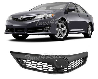 For 2012 2014 Toyota Camry Se Style Front Bumper Black Upper Grille