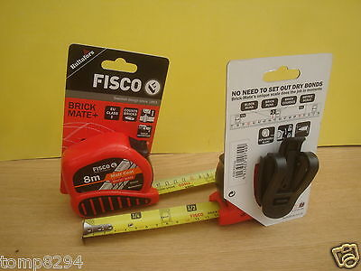 Pair Of Fisco 8M  Brick Mate Tape Measures Bm8M