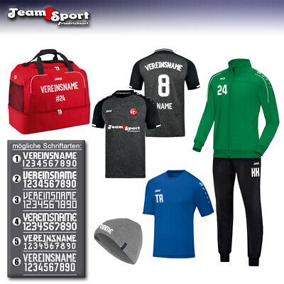 Flexdruck für Trikot, Sweat, Trainingsanzug, Teamsport, Polyesterjacke