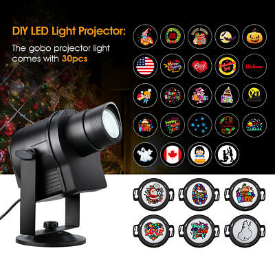 LED Landscape Projector Light 32 Slides Xmas Garden Outdoor Decor Lamp IP65 New
