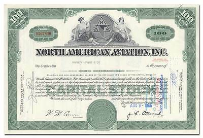 North American Aviation, Inc. Stock Certificate