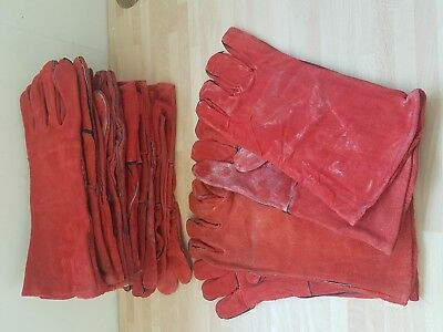 Welding Gauntlets Gloves Stoves Fire Safety Bundle of 5 pairs