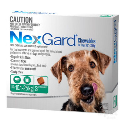 NEW Nexgard - Flea and Tick Treatment for Large Dogs 10.1kg - 25kg
