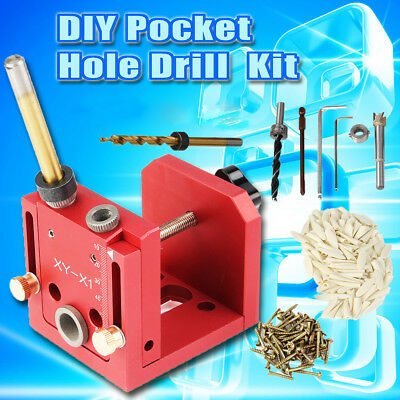 Pocket Hole Jig Doweling Jig Drill Guide Woodworking Joinery Position Master Kit