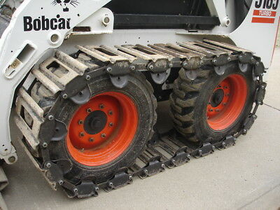 "10"" Over the Tire Steel Skid Steer Tracks for BOBCAT S160 & OTHERS"