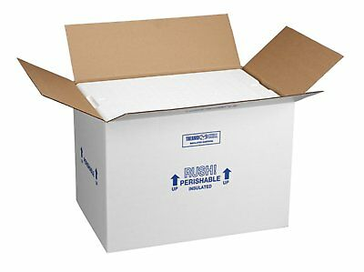 "Polar Tech 266C Thermo Chill Insulated Carton w/ Foam Shipper, Large, 19"" Length"