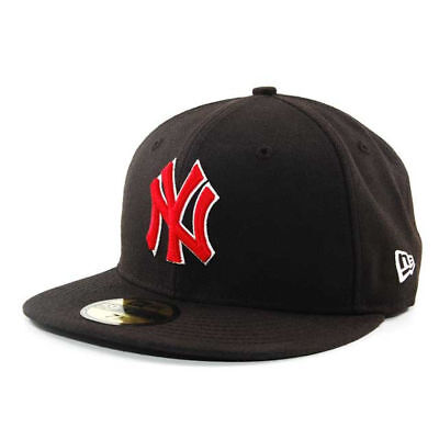 394187c03 New York Yankees MLB BR Stock Cap Hat New Era 59FIFTY Fitted Flat Bill Brim  Mens
