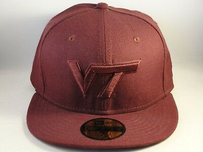 hot sale online 0e9e8 8f148 Virginia Tech Hokies NCAA New Era 59FIFTY Fitted Hat Cap Size 7 Maroon