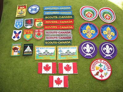 30 Canadian Boy Scout Patches Rovers Venturers Scouts Canada