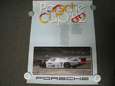 "Vintage Original - Porsche CUP '82 BOB WOLLECK Wins ! Racing Poster 30""x40"""