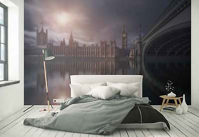 Westminster Palace River Reflection Photo Wallpaper Wall Mural (1X-1116739)