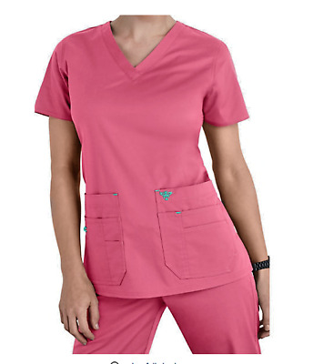 Med Couture Flex Medical Scrub Set Top 8458/Pant 8715 Creamsicle/Ice Blue XL