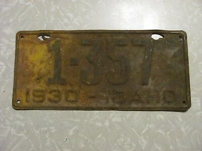 1930 Idaho License Plate   Free Shipping  See My Other Plates