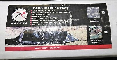 Rothco Camo Bivouac Tent (ACU- Pattern) 1-Person Ultralight & NEW ICS ACU Tent Improved Combat Shelter 1 Man Tent Military 8340 ...