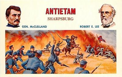 Patriotic~Civil War~Antietam~Fire Blazes~Union Gen McClelland~Confederate RE Lee