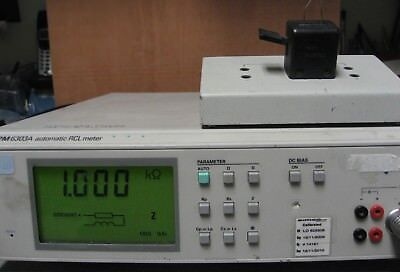 Philips PM6303A LCR Meter PM9542A Test Fixture & SMD adapter TESTED!