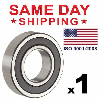 1 PC, 6205-2RS Rubber Sealed Ball Bearing, 25x52x15, Lubricated 6205RS