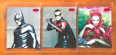 1997 Fleer/SkyBox Batman & Robin Widevision - Lot of 3 Mini Posters