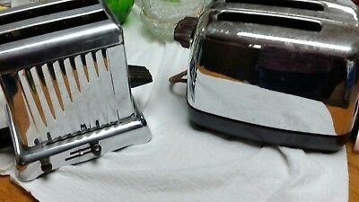 Knapp & Monarch and Dominion Electric Chrome Toasters - 2 Slice.  Great for Part