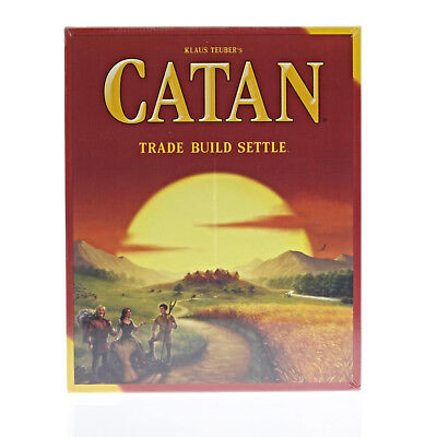 Klaus Teuber's CATAN Trade Build Settle Board Game 5th Edition NEW Sealed Box