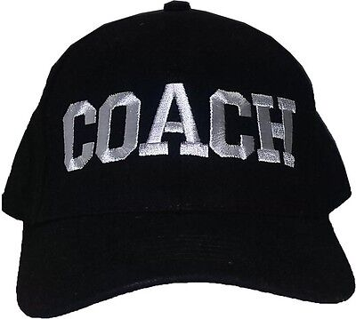 All Capital COACH Black Baseball Cap Embroidered Quality Hat