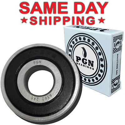 1 PC, 6302-2RS Rubber Sealed Ball Bearing, 15x42x13, Lubricated 6302RS