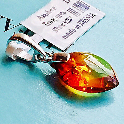 Genuine Baltic Amber Necklace Russian Vintage Butterscotch Egg Yolk Polish 老琥珀