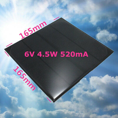 Mini Solar Panel Small Cell Module-Charger New 1W 5V, 1.5W 12V, 4.5W 6V