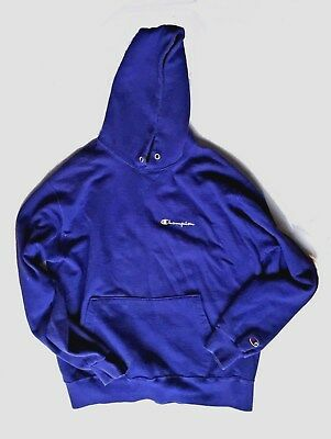 Champion Hoodie Blue XXL Vintage 90s Made in USA Sweatshirt