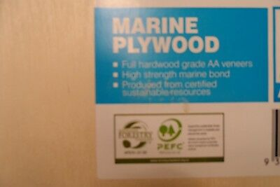 Marine Grade Plywood. 18mm x 1m x 600mm  SIZE QUALITY PRODUCT REPAIRS OR CRAFT