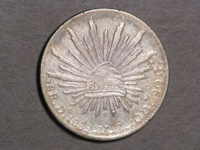 MEXICO 1889DoMC 8 Reales Silver Crown XF-AU